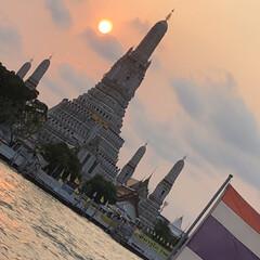 旅行/チャオプラヤー川/ワットアルン/THAILAND/タイ 過去pic📷 チャオプラヤー川から眺め…
