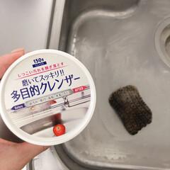 シンク掃除/シンク/キッチン掃除/掃除/100均/ダイソー/... キッチンのシンクを磨きました  ダイソー…