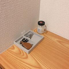 玄関/玄関収納/鍵置き場/カギ置き場/キートレイ/ベロア内箱仕切/... 引き出しを整理していたら 無印良品のベロ…(3枚目)