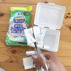 スクラビングバブル トイレ洗剤 流せるトイレブラシ 付替用48個セット(トイレ洗剤)を使ったクチコミ「トイレブラシはもう長らく 流せるトイレブ…」