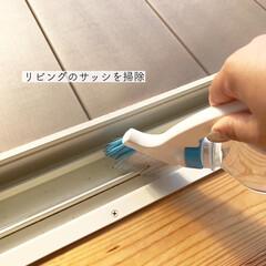 窓掃除/サッシ掃除/サッシ/簡単/ラク家事 サッシの掃除  水でサッとやるようになっ…
