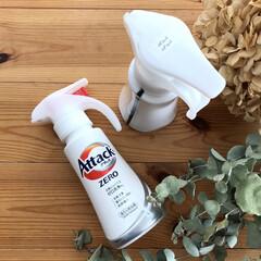 アタック ZERO ワンハンド 本体 400g | 花王(液体洗剤)を使ったクチコミ「洗濯洗剤は長らくアタック抗菌ex neo…」