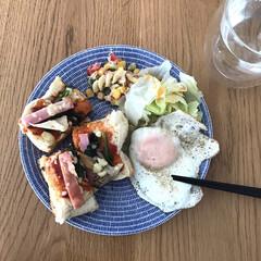 アラビア アベック プレート20cm ブルー ARABIA 24h Avec | 24h アベック(皿)を使ったクチコミ「朝食は基本的にこのプレートを 使っていま…」