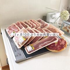 買い出し/まとめ買い/台所アイテム/キッチンアイテム/簡単/暮らし/... お肉は決まったスーパーで買っています。 …