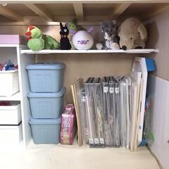 オモチャ収納/オモチャ/おもちゃ収納/おもちゃ/100均/簡単/... 我が家のぬいぐるみ収納  和室の押し入れ…