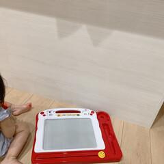 コンドル たわし メラミンスポンジL FU491-000X-MB 清掃用品・たわし・スポンジ(掃除用ブラシ)を使ったクチコミ「子供に油性ペンで盛大に落書きされました😭…」(4枚目)