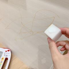 コンドル たわし メラミンスポンジL FU491-000X-MB 清掃用品・たわし・スポンジ(掃除用ブラシ)を使ったクチコミ「子供に油性ペンで盛大に落書きされました😭…」(3枚目)