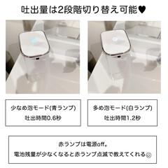 ELPA オートディスペンサー泡タイプ ESD-05AS | エルパ(その他スキンケア、フェイスケア)を使ったクチコミ「洗面所のハンドソープ用ボトルをオートディ…」(2枚目)