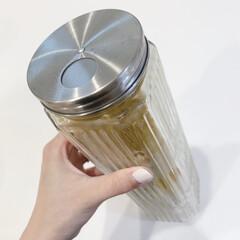 保存容器/暮らしを整える/便利グッズ/便利アイデア/パスタ収納/ニトリ/... パスタ収納にはニトリの量り付きステンレス…
