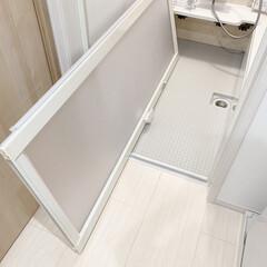 暮らしを整える/便利アイデア/浴室掃除/お風呂掃除/カビ対策 浴室ドアまわりのお掃除をしました✨浴室ド…