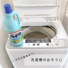 花王 ハイター 大 1.5L | 花王(柔軟剤)を使ったクチコミ「月一の洗濯槽お掃除!衣料用の塩素系漂白剤…」