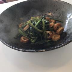料理/夕ごはん/大皿/食器/ニトリ/時短レシピ すごく素敵なお皿を見つけて 久しぶりに食…