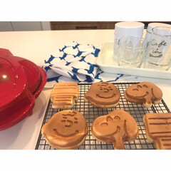 森永製菓 森永ホットケーキミックス 150g(お菓子、ホットケーキミックス)を使ったクチコミ「. スヌーピーのワッフルメーカー♡ . …」