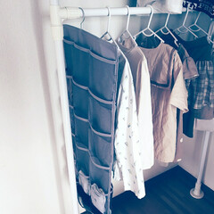 SmartAngel)キッズハンガー12本入り | 西松屋(ポールハンガー)を使ったクチコミ「˗ˏˋ 靴下収納 ˎˊ˗  我が家の靴下…」