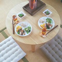 コレール コレール ウインターフロスト ホワイト ランチ皿 大 J310−N RKL6101 | コレール(弁当箱)を使ったクチコミ「◤お昼ご飯0818◢  メニュー𐩢𐩺…」(1枚目)