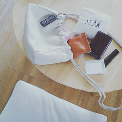 必需品/暮らし/持ち物/紙石鹸/小さい財布/ショルダーバッグ/... ◤鞄の中◢  シンプルな暮らしがしたい…