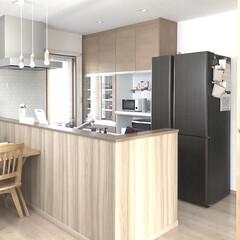 買い替え/kitchen/キッチン/冷蔵庫/AQUA/暮らし ついに冷蔵庫が届きました🎶 AQUAです…