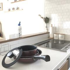 愛用品/kitchen/鍋/フライパン/キッチン/フライパン収納/... 我が家で愛用している取手がはずれるフライ…