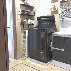 すきま収納/スリムラック/洗面所/洗面室/下着収納/靴下/... 届いた届いた!🚛 洗濯機の横のスリムラッ…