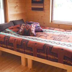ベッド/すのこベッド/DIY/ネイティブアメリカン/インディアン 【すのこベッドを作ってみました】 ベッド…