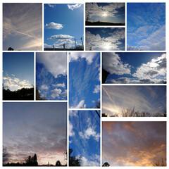 雲/夕焼け/朝焼け空/青空 買い物やゴミ捨て、送り迎えや家の前や庭、…(1枚目)