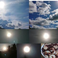 中秋の名月/十五夜/おうちごはん/空 今日は十五夜🎑、中秋の名月。(満月🌕は明…