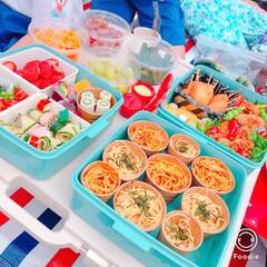 子供/運動会/お弁当 子供達の運動会のお弁当でした❤️ たくさ…(1枚目)