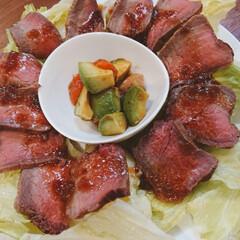 簡単ご飯/おもてなし料理/パーティー料理/今日のごはん/Panasonic/簡単レシピ *ラクッキングリルでローストビーフ* ↓…