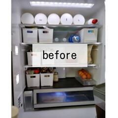 特大冷蔵庫 NR-F554HPXT マチュアダークブラウン | パナソニック(冷蔵庫)を使ったクチコミ「*冷蔵庫収納見直しました* ↓↓↓ 冷蔵…」