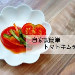 おうちご飯/夏バテ対策/常備菜/今日の晩御飯/ランチ/自家製/... *トマトキムチ* ↓↓↓ オイキムチをつ…