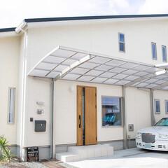 ナチュラル/シンプル/新築/木の家 シンプルで美しい外観 玄関ドアが特徴の住…