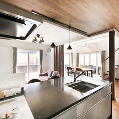 子育て住宅/対面式キッチン/注文住宅/富士住建 デザイン性に優れた、子育てしやすい家 コ…
