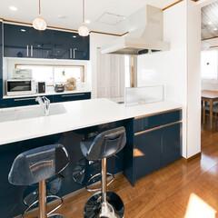 完全フル装備/富士住建/注文住宅 完全フル装備の家 吹き抜けが印象的なリビ…