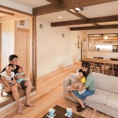 木の家/自然素材/ウッドデッキ/新築 子どもたちが走り回る木と自然素材たっぷり…