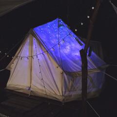 夏インテリア テントに照明 プラネタリウム風w