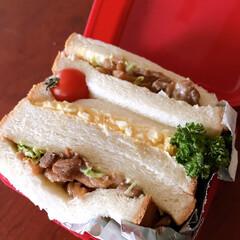 サンドイッチ 高1娘。サンドイッチ弁当 チキンサンド★…