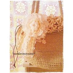 タコ糸編み/タコ糸/麻ひも/かぎ針編み小物/編みもの/編み物/... 以前よく編んだ麻ひもバッグです。 バッグ…