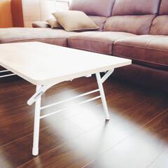テーブル/ニトリ購入品/雑貨/ニトリ/便利グッズ/購入品 ニトリの折りたたみテーブル。折りたたみ式…(1枚目)
