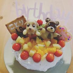 誕生日ケーキ ムスメのBIRTHDAY cake作りま…
