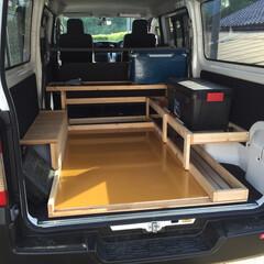 DIY収納/暮らし/DIY 過去作品 会社の作業車の荷物置き!