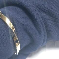 真鍮/バングル/手作りアクセサリー/おしゃれ/DIY 真鍮の角棒をツイストして磨き上げたバング…(2枚目)