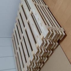 ウォルナット/すのこベッド/DIY/野地板 製作していたすのこ残り5枚が完成しました…