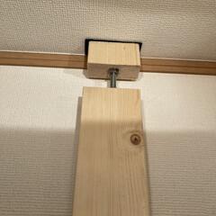 カウンターテーブル/ギター/100均DIY/DIY/男前/カフェ風/... 今回は自作でラブリコ風な物を作り、壁掛け…(6枚目)