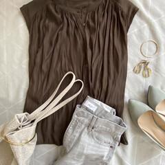 ファッション/おしゃれ/夏ファッション こっくりとしたブラウンを取り入れ、 秋を…