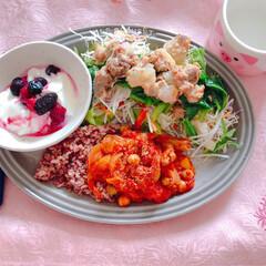 朝ごはん/ワンプレートごはん/ダイエット/糖質制限/糖質/野菜たっぷり/...