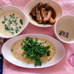 朝ご飯/糖質制限/リゾット/朝ごはん/ダイエット/糖質/... アクアパッツァの出汁の残りで、リゾット(1枚目)