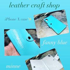 レザークラフト/leathercraft/革/革製品/革小物/iPhone/...              mikaway…