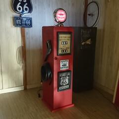 遊び心/収納BOX/収納の工夫/収納家具/収納ボックス/収納棚/... ガスポンプ 形 収納ボックス 側面の給油…