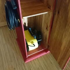 遊び心/収納BOX/収納の工夫/収納家具/収納ボックス/収納棚/... ガスポンプ 形 収納ボックス 側面の給油…(2枚目)