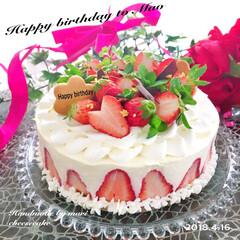 チーズケーキ/手作り/手作りケーキ/スィーツ/チーズテリーヌ/レアチーズケーキ/... 今日は娘の誕生日🎂 今日は仕事も休めない…